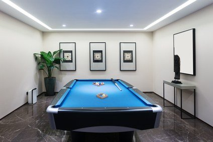 Turn Your Garage Into - Pool table in garage