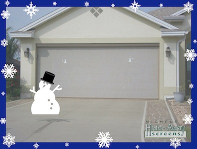 Getting you retractable garage screen ready for winter.