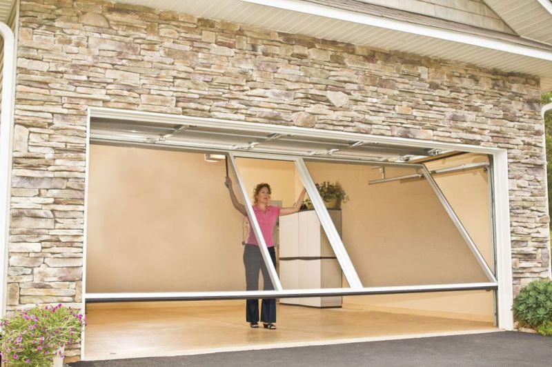 Horizontal Sliding Garage Doors lifestyle screens | michele's hide-away screens
